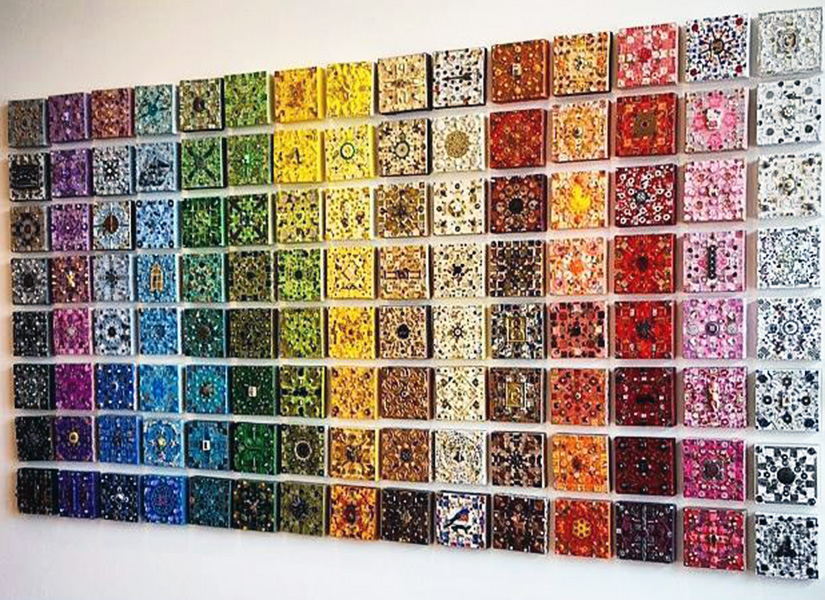 #Treasure Tile Display Deep Colors