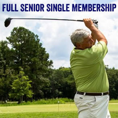 Full Senior Single Membership - 1 Week (Age 70+)*