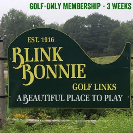 Golf-Only Membership - 3 Weeks