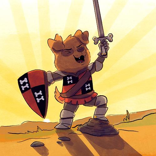 Giclee Print: warrior pup
