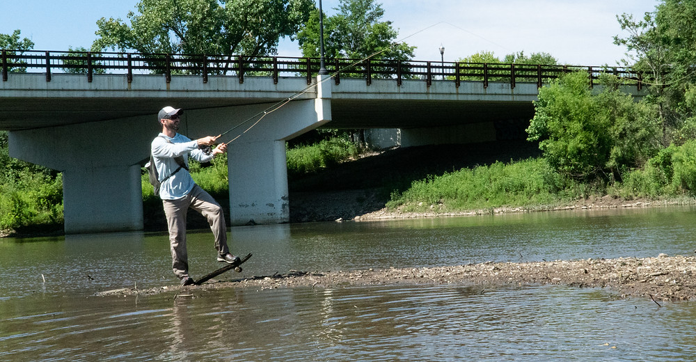 Urban fly fishing in Columbus, Ohio
