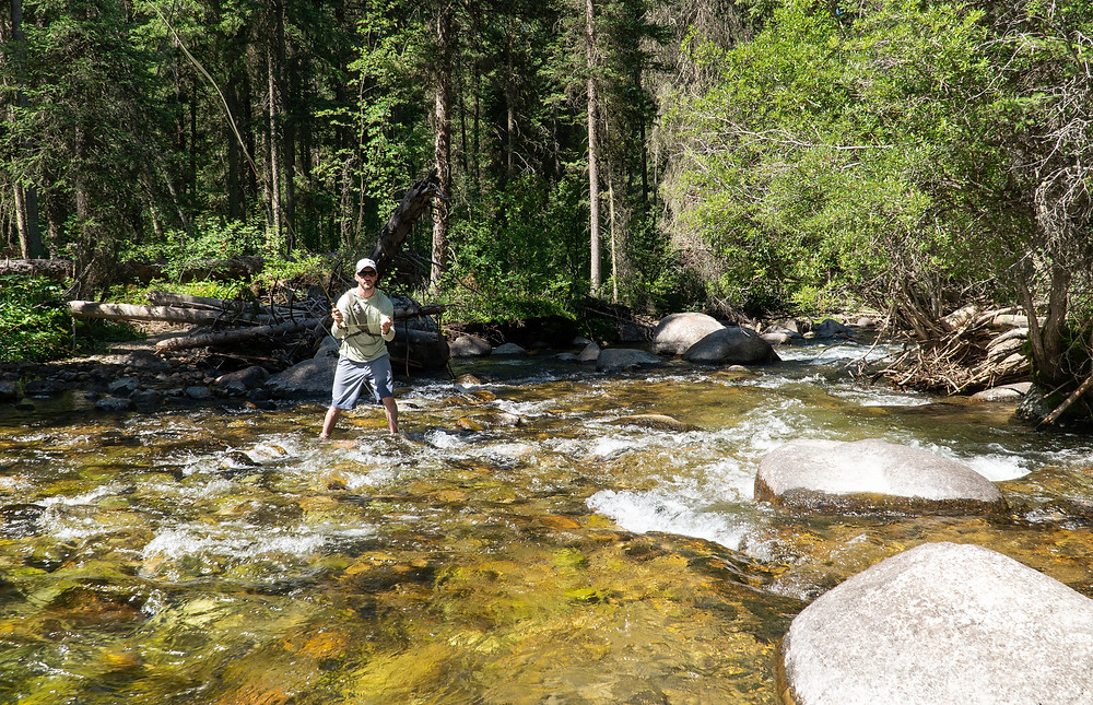 Backcountry fly fishing in Wyoming