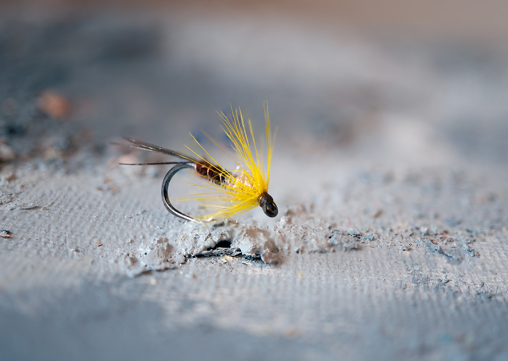 fly tying with pheasant feathers