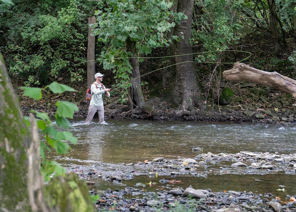 Smallmouth fishing on the Scioto River in Columbus, Ohio