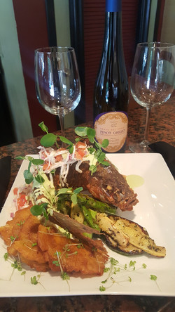 Yellow Tail Snapper with Tostones