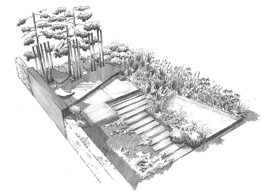 Studio RS design - Hampton Court Show Garden illustration