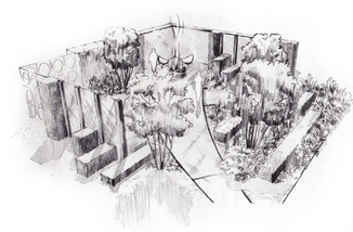 Studio RS - Chatsworth Show Garden illustration