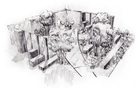 Studio RS - Chatsworth Show Garden illustration
