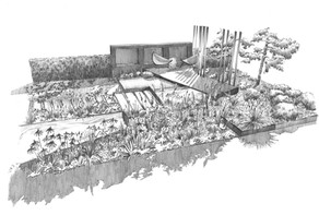Studio RS design - Hampton Court Show Garden illustration