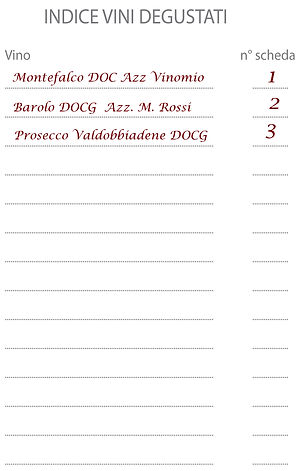 Degustabook Wine Professional esempio in