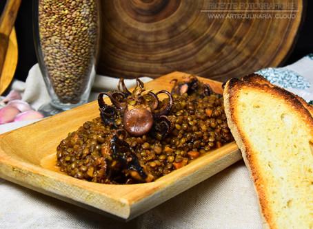 Lenticchie di Colfiorito con polipetti ai semi di finocchio