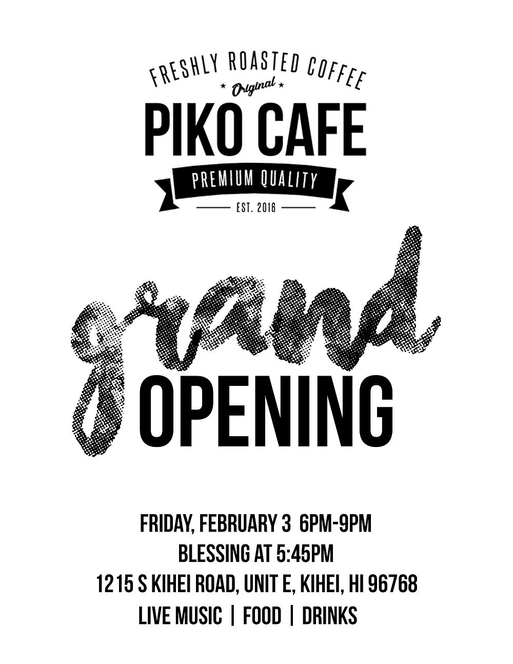 Piko Cafe Grand Opening Island Style Food Maui Kihei