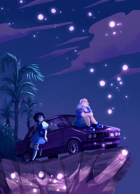 Sarah and Carmen (Nighttime)