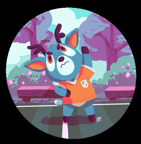 Bam (Animal Crossing fanart)