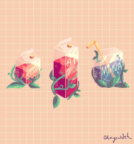 Health Potion and Mana potion design