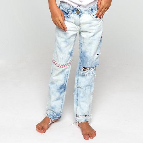 Vintage Red Stitch Jeans - Size 6