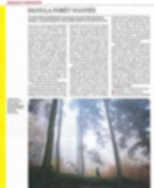 Article paru dans Telerama n°3611, sur la série audio Forêt/Cache/Arbre.