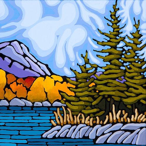 Crisp Autumn Air 12x12 Original Acrylic on Canvas