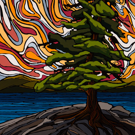 Lone Pine 20x24 embellished print on sale now!