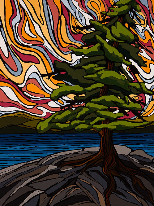 Lone Pine 20x24 Embellished Gallery Wrapped Print