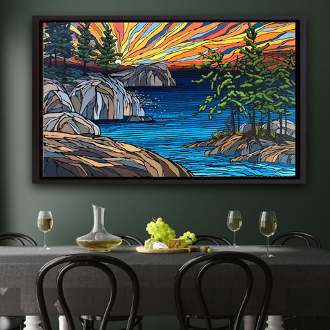 Sunset in the Bay 36x48