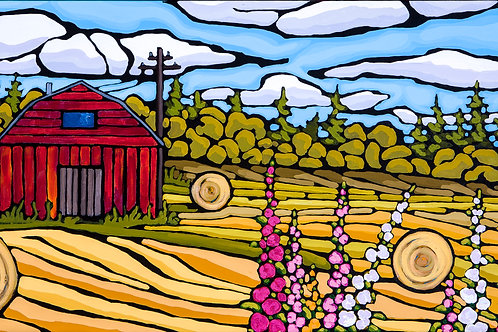 Drawing Hay 10x20 PRINT on canvas