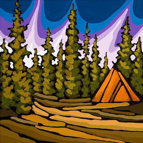 Tent for Two 10x10 Original Acrylic on Canvas