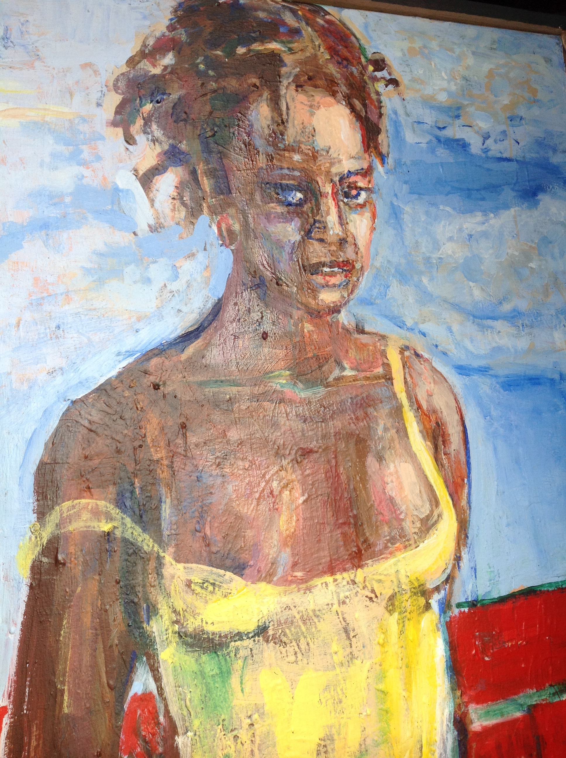 """Modess"", acylic on canvas, 41.5""(h) x 31.5""(w), $2800"