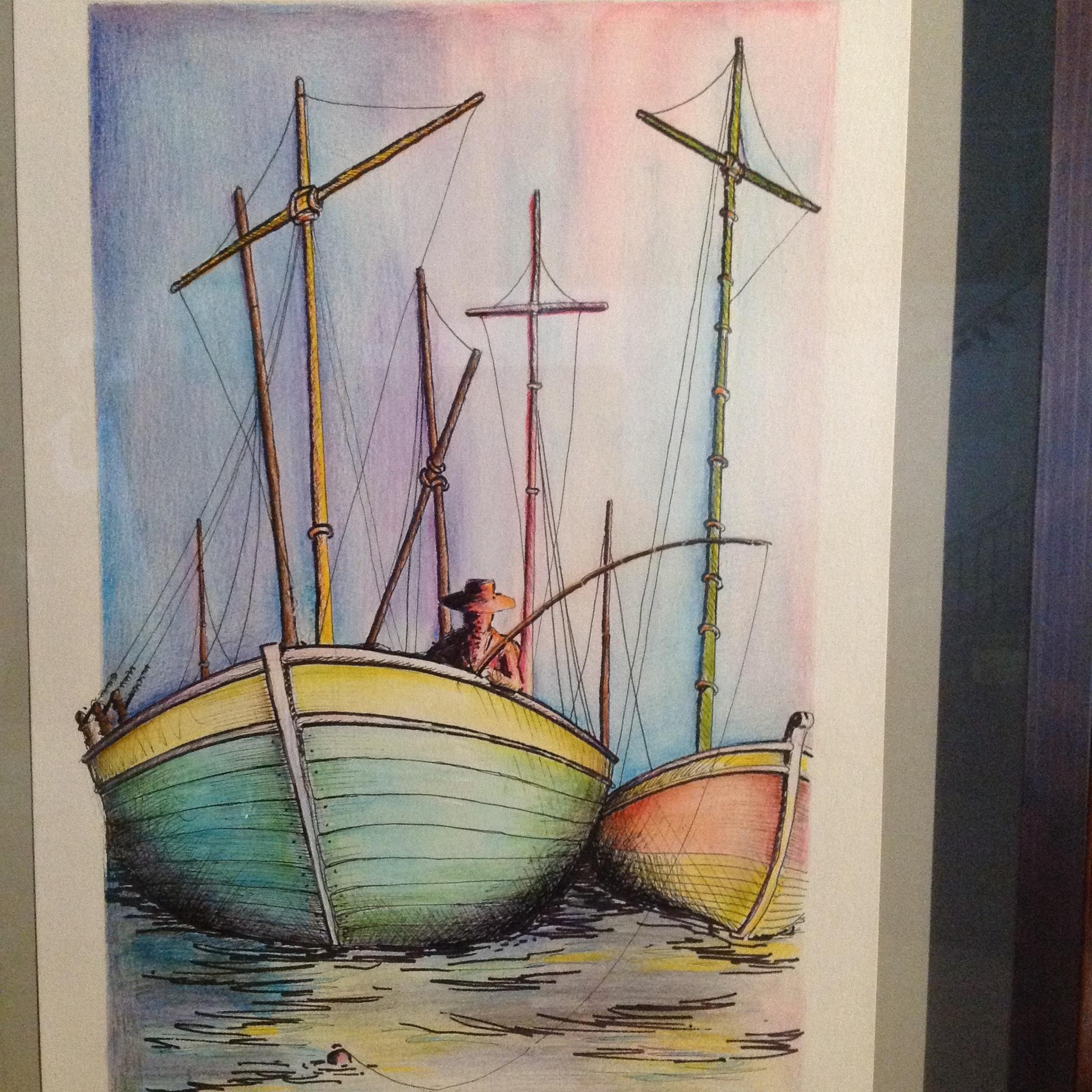 """Fisher of Men"", watercolor, Sold"
