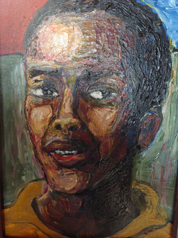 """Lunatic"", acrylic on canvas, $1500"