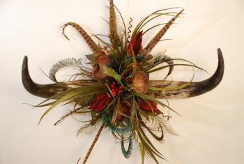 Horn Floral Arrangement