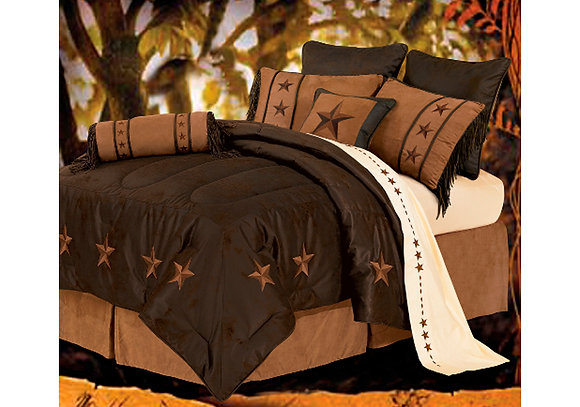 Laredo Mocha Bed Set, Queen