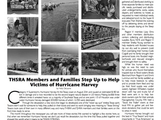 THSRA Members and Families Step Up to Help Victims of Hurricane Harvey