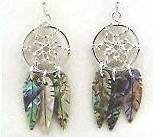 Wild Pearl Dreamcatcher Earrings