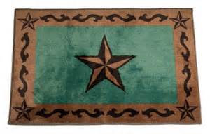 Turquoise Star Bath/Kitchen Rug  24 X 36""