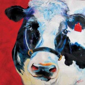 Marcia Baldwin MooMoo Canvas Wall Art