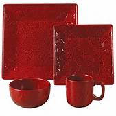 Savannah 16pc. Dinnerware Set Red
