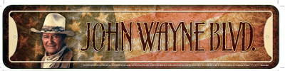 John Wayne Blvd Street Sign