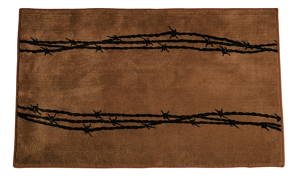 "Barbed Wire 24 X 36"" Rug"