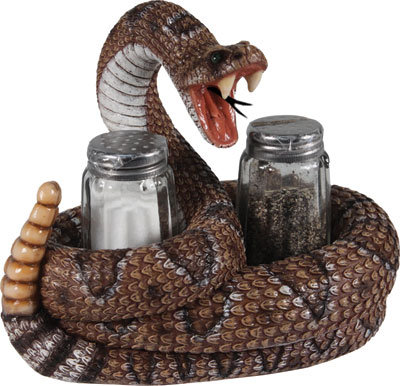 Rattlesnake salt & Pepper Set