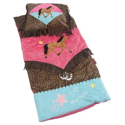 JL Cowgirl Leopard Slumber Bag