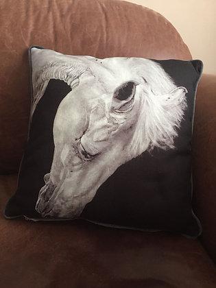 Grey horse cushion