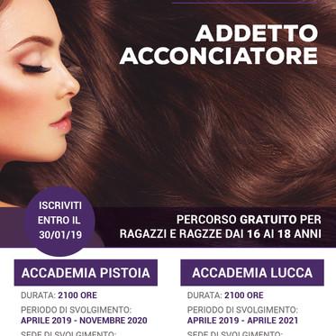Addetto Acconciatore in partenza a Lucca e Pistoia