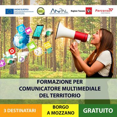 COMUNICATORE MULTIMEDIALE DEL TERRITORIO– Formazione mirata all'inserimento lavorativo