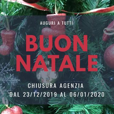 CHIUSURA UFFICI -festività natalizie