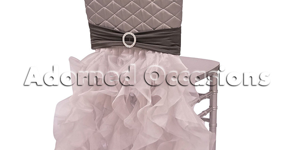 Quilted -tutu Styled Chair backs