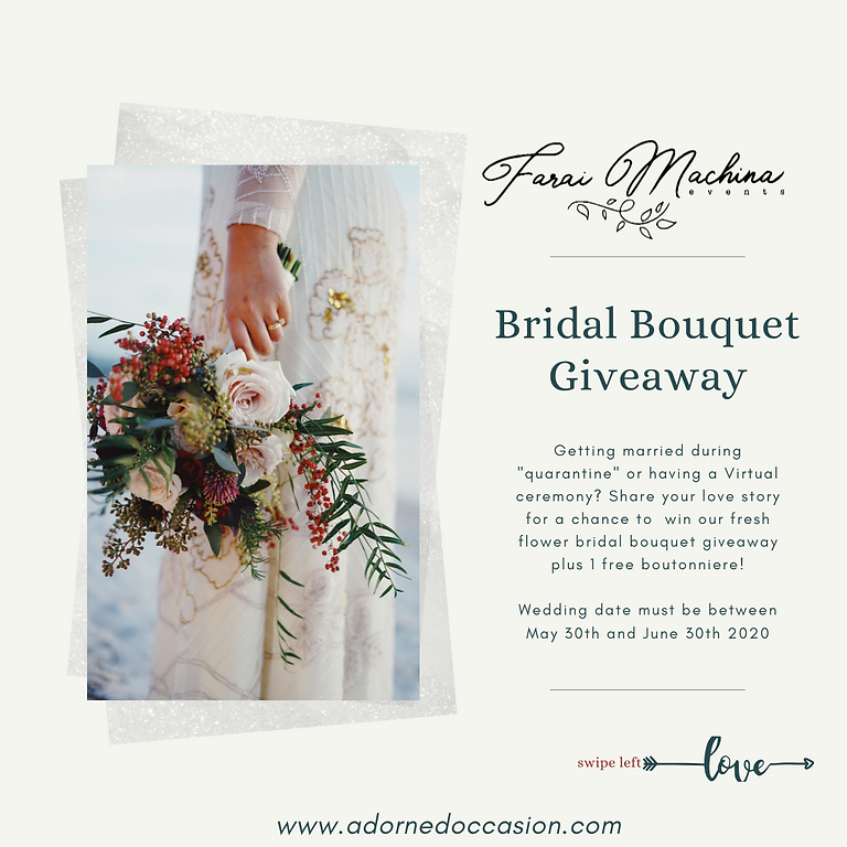 Bridal Bouquet Give Away
