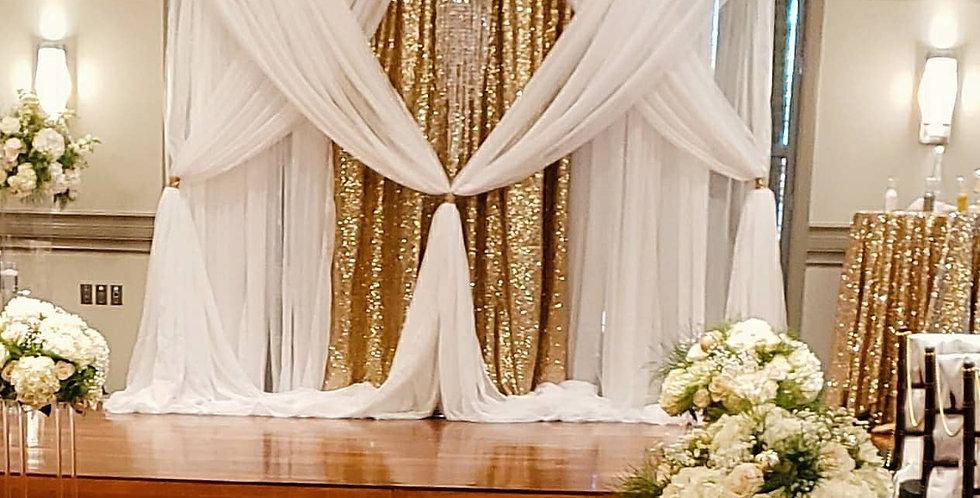 Draped Ceremony Backdrop