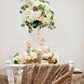 Event tablescape styling, inspired by my