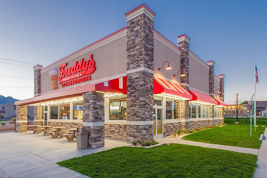 Zwick Construction has completed many restaurant projects throughout states like Utah, California, Nevada, and Arizona, including the Freddy's Steakburger.